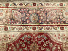 10x13 ANTIQUE PERSIAN TABRIZ RUG HAND KNOTTED IRAN RED BLUE WOOL RUGS 10x14 9x13