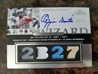2006 Topps Sterling #OS-DB27 Ozzie Smith Autograph Jersey Bat Quad 10