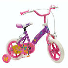 Girls 12 Bike With Stabilisers Kids Pink Purple Fairy Design First Cycle