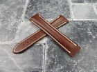 OMEGA 22mm Brown Calf Leather Deployment Strap Beige Watch Band Seamaster 22
