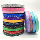 5yards 5 8 15mm Printing STAR Grosgrain Ribbon Bow Christmas Decoration CA