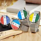 SK Luxury Quartz Watches Stainless Band Casual Style 3 ATM Daily Water Resistant