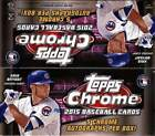 2015 Topps Chrome Baseball Factory Sealed HTA Jumbo Pack Hobby Box (5 Autos)