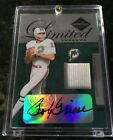 2005 Leaf Limited Threads Bob Griese Auto Game Worn Jersey 11 25