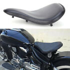 New Black Soft Leather Solo Seat + 3 Spring Bracket Kit For Indian Scout Bobber