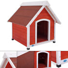 XL A Frame Dog House Solid Wood Outside Stained Rustic Window Spacious Pet