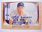 IRV NOREN signed YANKEES 1955 Bowman baseball card AUTO Autographed 1952 1953 WS