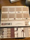 Scrapbooking Paper Kit Teresa Collins Hello My Name Is 2x12 NEW
