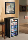 Beverage Cooler Refrigerator Stainless Steel Mini Bar Fridge Beer Soda 120 Cans