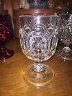 L.G. Wright Crystal Clear Moon and Stars 4 Footed Water Goblets  5-3/4
