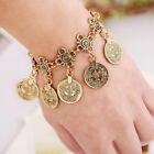 Fashion Women Boho Bracelets Coin Tassel Drop Pendsnt Decor Gypsy Ethnic Beach