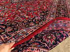 9x13 RED PERSIAN RUG HAND KNOTTED RUGS IRAN WOVEN HANDMADE WOOL ANTIQUE 10x13 ft