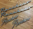 4 Vintage FORD RANCHERO Fender Emblems Left Right Front Rear removed from 1957