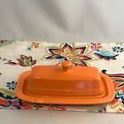 Fiestaware Tangerine Butter Dish Fiesta Retired Orange Small Covered Butter NIB