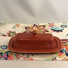 Fiestaware Paprika Butter Dish Fiesta Retired Orange Small Covered Butter NIB