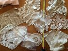 vintage doilies, large lot of assorted sizes and shapes