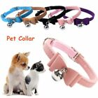 Puppy Elastic Safely Pet Necklacce Velvet Leather Dog Collar Bell Bow Tie