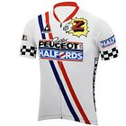 1987 1989 Peugeot Cycling Jersey Retro Road Pro Clothing MTB Short Sleeve Bike