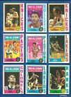 1974-75 Topps Basketball lot of 106 diff cards Hayes Bradley Jackson Riley