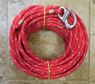 7 16 x 115 ftDac Spectra HalyardSpliced in Hvy Fixed Bail Shackle Red white