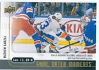 2017-18 Upper Deck Game Dated Moments Hockey Cards 17