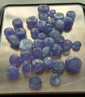 50 carat LOT mix 4 6mm TANZANITE gemstone FACETED loose about 40 BEADS NATURAL