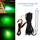 12V Green LED Underwater Submersible Fishing Light Night Crappie Shad Squid Boat