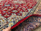 10x14 HAND KNOTTED PERSIAN RUG RED BLUE RUGS IRAN HANDMADE WOOL ANTIQUE 10x13 ft