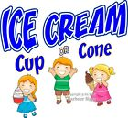 Ice Cream Cup Cone Decal Choose Your Size Food Truck Sign Concession Sticker