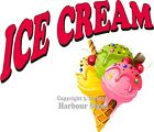 Ice Cream Decal Choose Your Size Logo Concession Food Truck Sign Sticker