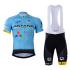 2017 Pro Team ASTANA Cycling jersey and bib shorts set MTB quick dry sportswear
