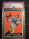 1961 TOPPS FOOTBALL 169 PAUL MAGUIRE ROOKIE PSA 9 BEAUTIFUL CARD WELL CENTERED
