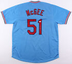 Willie McGee Signed St. Louis Cardinals Powder Blue Throwback Jersey (JSA COA)