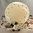Vintage Kitchen Kraft Oven Serve Cake Plate and Server Ivory with Silver Pattern