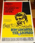 THE LEOPARD orig 1963 Burt Lancaster Luchino Visconti 1sheet poster EXC