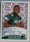 Lesean McCoy - RC AUTO - 2009 Topps - Rookie Premiere - ON CARD EAGLES