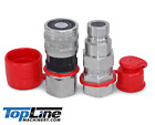 TL21 5 8 SAE Flat Face Hydraulic Quick Connect Coupler Set 1 2 body ISO 16028
