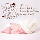 WINNIE THE POOH WALL LARGE STICKER QUOTE KIDS BEDROOM BABY NURSERY DECO