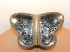 Victorian Filigree Butterfly shaped with Beveled Glass Jewelry Case 13568