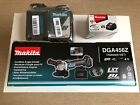 Makita Dga456z Angle Grinder With Charger And Spare Battery
