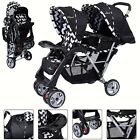 Double Stroller Lightweight Canopy Collapsible Umbrella Heavy Duty Two Baby Best