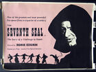 Seventh Seal 57 Ingmar Bergman Strausfeld Artwork British Quad Rolled 30x40