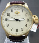 Nautica Gold Steel Case Brown Leather Strap Mens A09599 - Retail $195 (59% off)