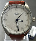 Nautica Silver Dial Leather Strap Men's Watch A18511 - Retail $145 (59% off)