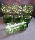 Set of 4 Vintage Libbey Spring Blossom Crazy Daisy Tumblers Glasses 6