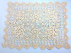 Handmade Crochet Lace Doily and Tablecloth Beige