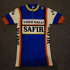 Safir Galli real true vintage cycling jersey 80 wool 20 acrylic size 2small