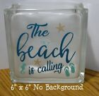 The Beach is Calling Decal sticker for 8 Glass Block Shadow Box