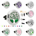 New Life Tree Set Crystal Locket Removable Car Vent Clip Essential Oil Diffuser