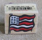 Patriotic American Flag Day Independence Stars  Stripes Hero Arts rubber stamp